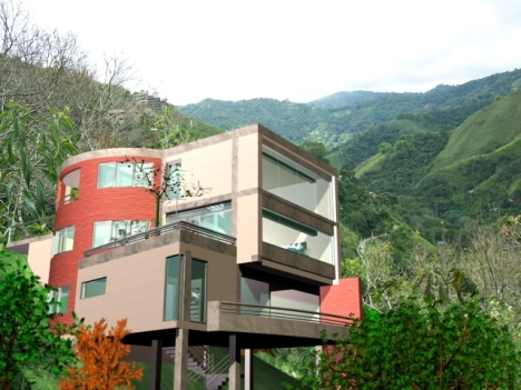 Proyecto de Casas. terreno en pendiente