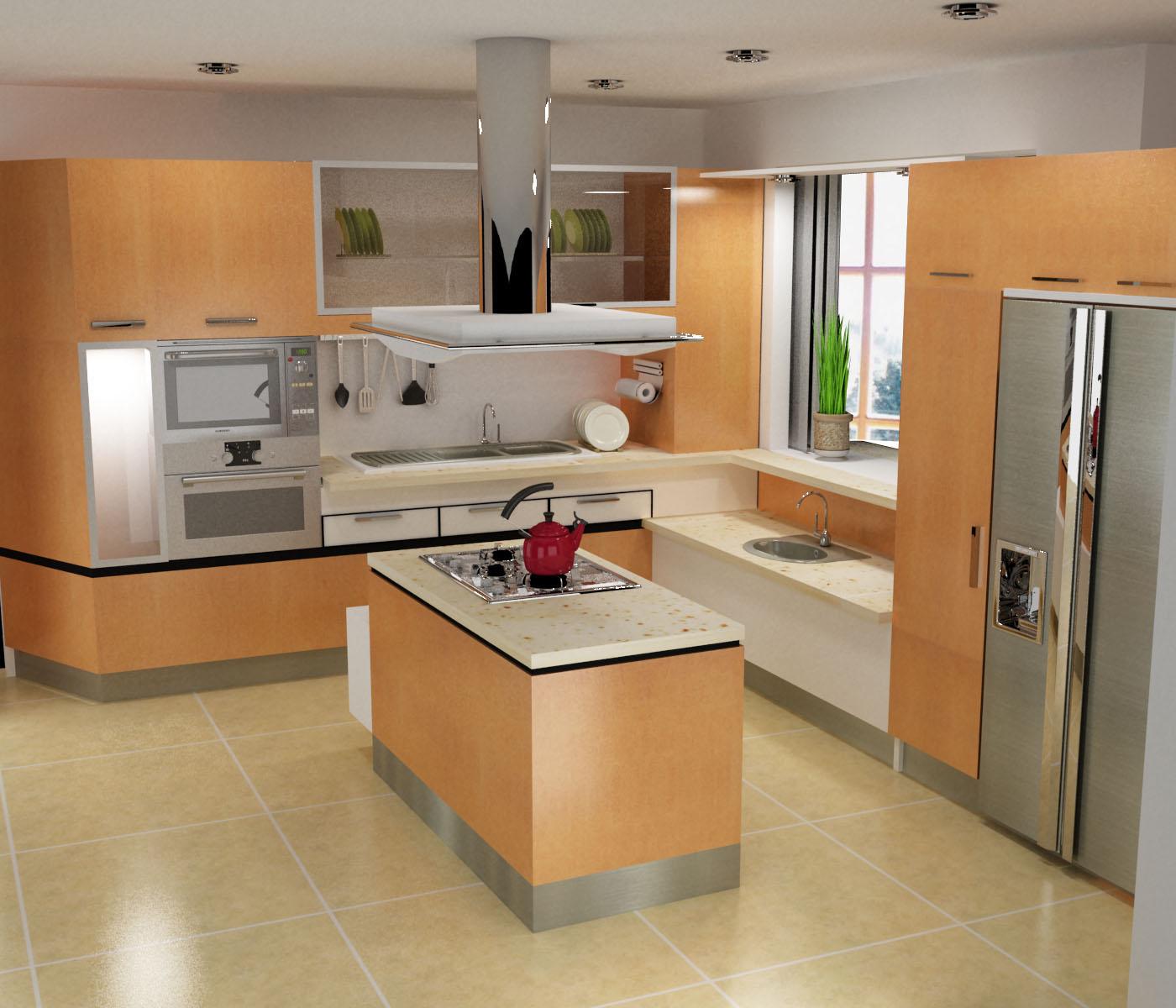 Remodelaciones de cocinas integrando la cocina a la sala for Cocinetas para cocinas pequenas