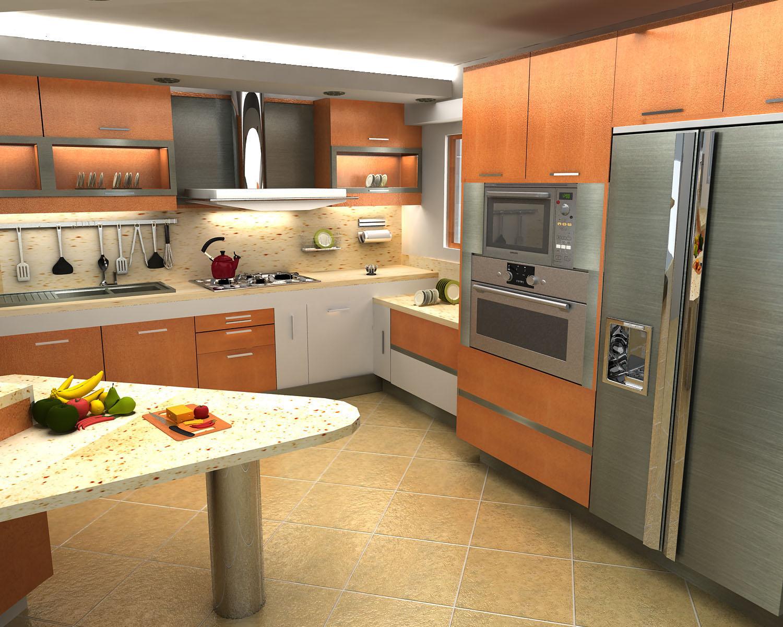 Remodelaciones de cocinas integrando la cocina a la sala for Disenos de cocinas en l