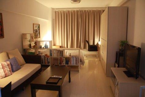Dividir ambientes sólo con mobiliario