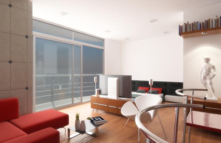 Dise o de apartamentos peque os tipo estudio modernos for Colores para apartamentos pequenos