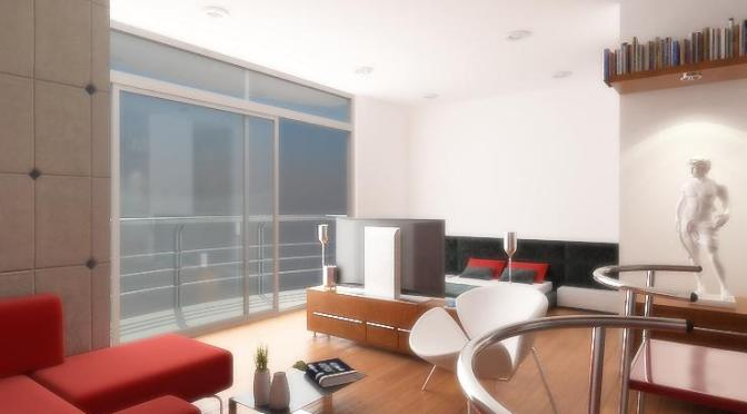 Diseño de apartamentos pequeños, tipo estudio, modernos