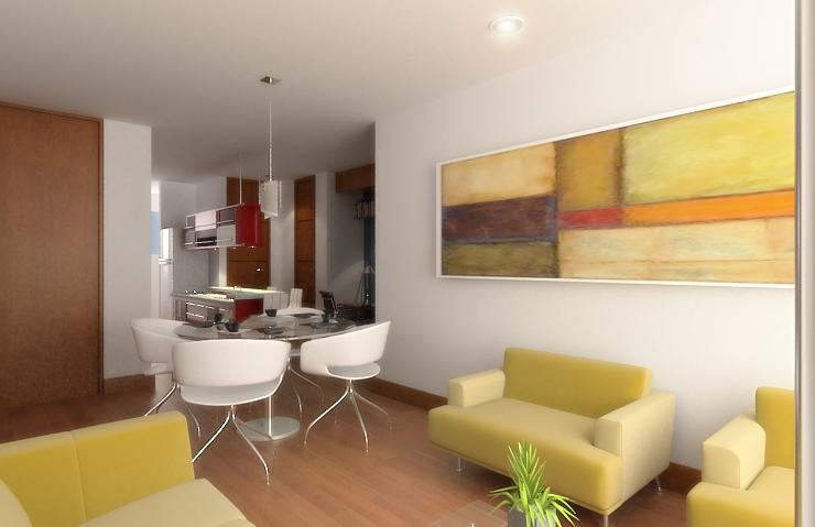 Dise o de apartamentos peque os tipo estudio modernos for Decoracion moderna departamentos pequenos
