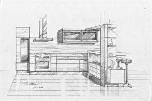 Cocina integrada a la sala