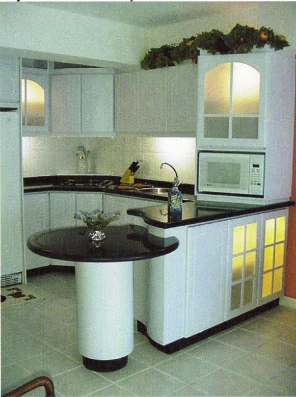 cocina y pantry con tope granito negro