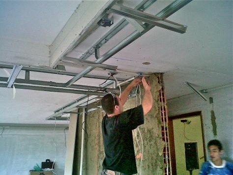 Techos drywall en oficinas