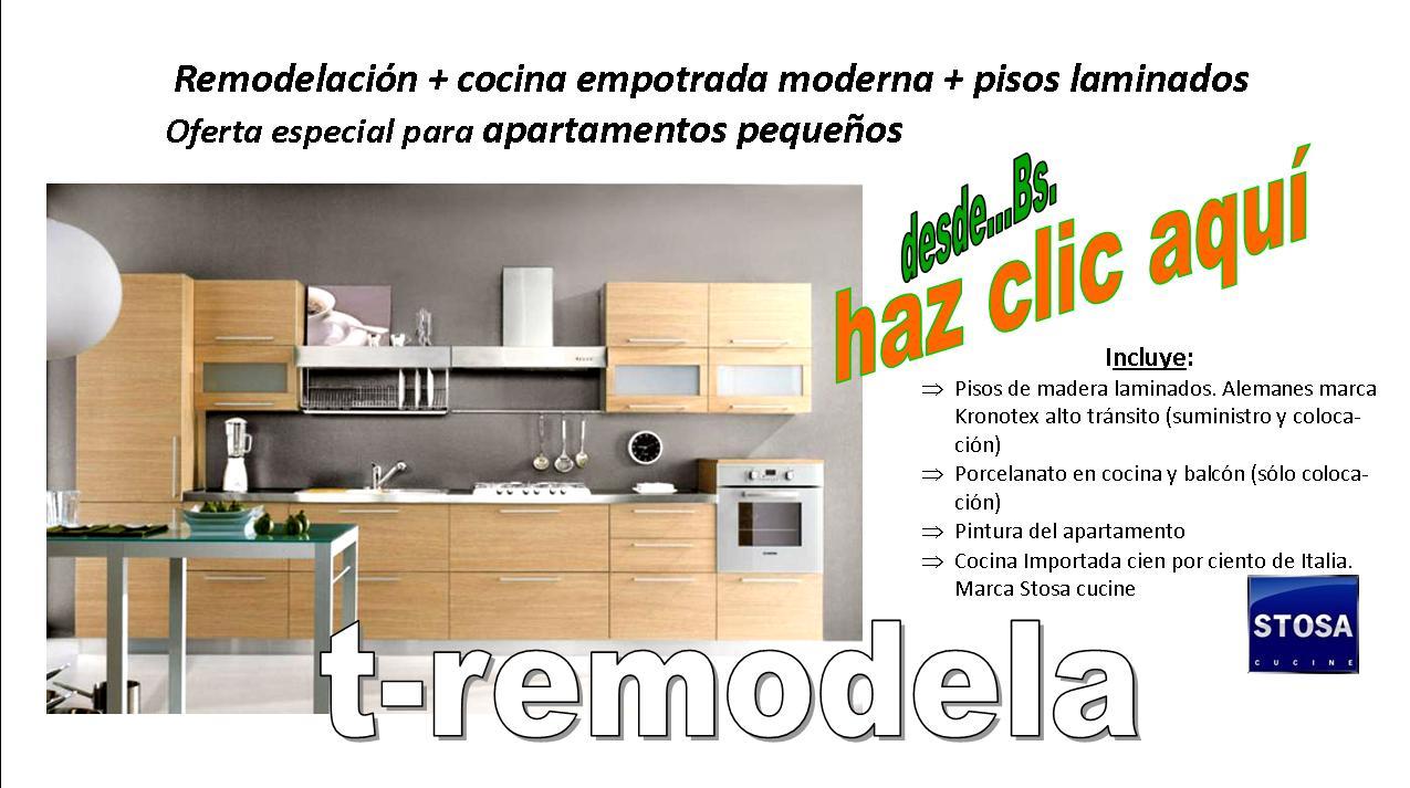 Remodelacion de cocinas empotrada imagui for Remodelacion apartamentos pequenos