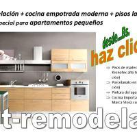 Remodelación de apartamentos pequeños + cocina empotrada Italiana + suministro y colocación de pisos laminados, Desde...