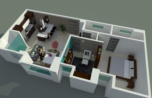 aparatamento de 70 m2