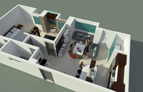 Apartamento pequeño Diseño y remodelación